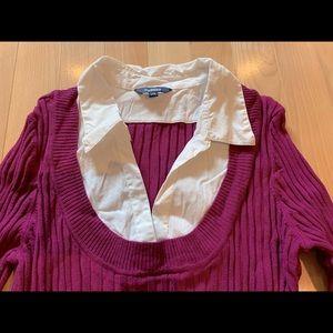 Reitman's 3/4 length sweater blouse-size L